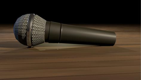 مدل سه بعدی میکروفن